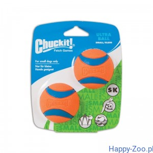 CHUCKIT ULTRA BALL SMALL dwupak 5 cm