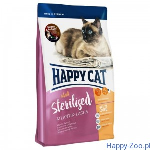 Happy Cat Supreme Sterilised  z łososiem atlantydzkim 4 kg, 10 kg