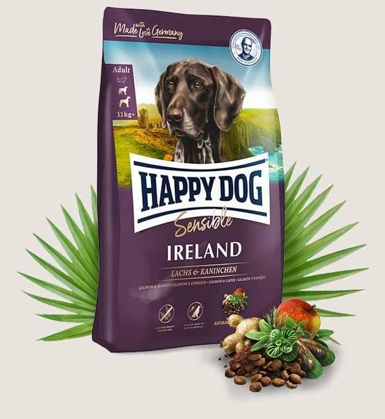 Happy Dog Sensible Ireland / Irland łosoś/królik 12,5 kg